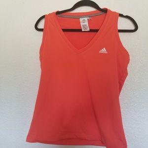 Adidas Sleeveless Orange Workout wear Tank top